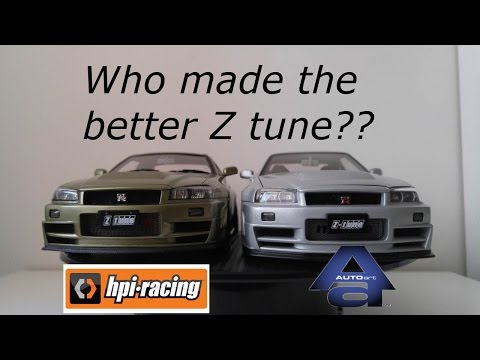 AUTOart VS HPI Racing 1/18 Nissan Nismo GT-R R34 Z-Tune Comparsion Review