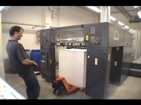 Manual Air Pump >> MAN Roland 700 Offset Printing Machine - YouTube