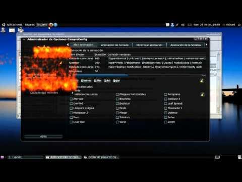 Ventanas con fuego en ubuntu 15.04 y 14.10 Animations add-on Todos los efectos compizConfig