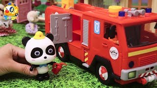 Super Panda Rescue Team | Fight against Bad Dinosaur | Kids Toy Story | ToyBus