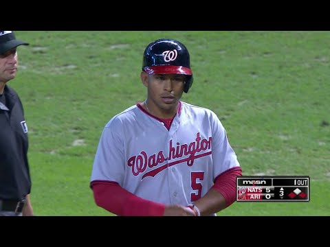 WSH@ARI: Sanchez records first RBI in Majors
