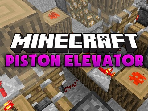 Minecraft Tutorial: Piston Elevator! (Works on xbox)
