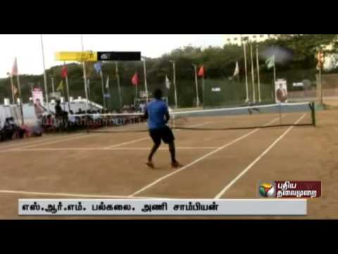 SRM University wins National Level Tennis Tournament