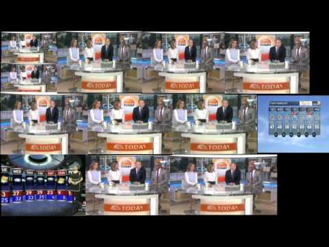 Today Show Weather from 12 different stations at same time