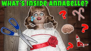 What's Inside Annabelle! Annabelle Has A Crush On My Dad! We Cut Annabelle Open!