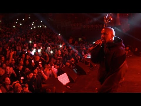 Kanye West Performs at the HOT 97 TIP-OFF Show w/ Puff Daddy