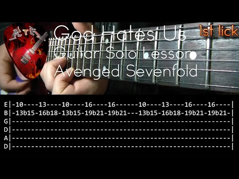 Download Lagu God Hates Us Guitar Solo Lesson - Avenged Sevenfold (with tabs) MP3 Free