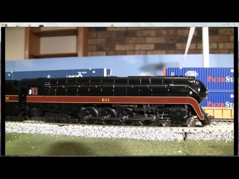 Review of Broadway Limited 611 J Steam loco Museum Version in HO scale Norfolk Western