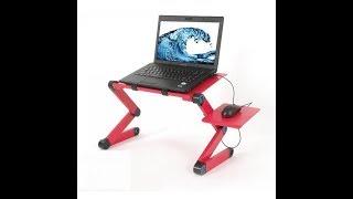 Multifunctional Laptop Table. Aluminium Alloy Folding Computer Desk.