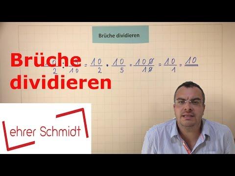Brüche dividieren   Bruchrechnung   Mathematik   EINFACH ERKLÄRT   Lehrerschmidt