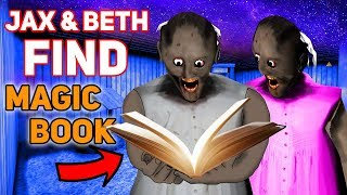 Jax and Beth FIND GRANNY'S HIDDEN MAGIC BOOKS!!! | Granny The Mobile Horror Game (Story)