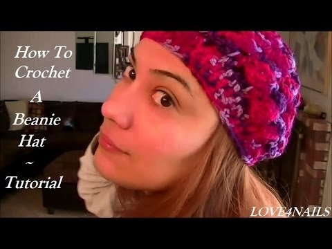 How To Crochet Beanie Hat Set To The Rose Scarf Tutorial