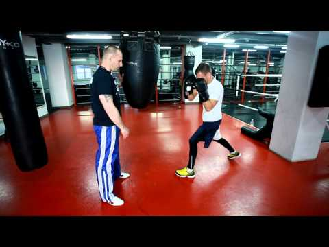 Бокс. Работа на боксерском мешке- с Мартыновым Андреем