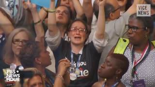 Bernie Sanders Supporters Cry During DNC Speech