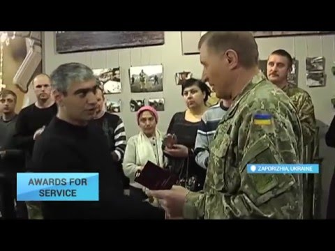 Ukraine Soldiers Awarded: Volunteers, Army troops acknowledged for service in Donetsk area