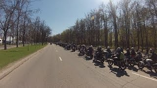 The Column of Bikers 26.04 Moscow