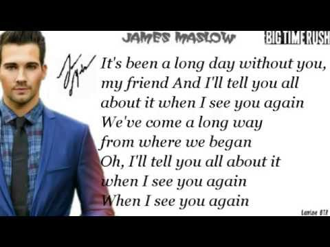 See You Again- James Maslow ft. Mandy Jiroux ,Official cover [Lyrics]