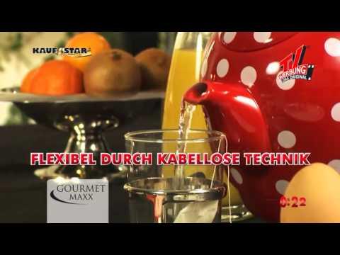 Gourmet Maxx Keramik Wasserkocher Pünktchendekor