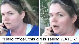WOMAN DIALS 911 ON LITTLE GIRL SELLING WATER │Karma│