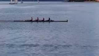 Snapshot of our winning semi-final race