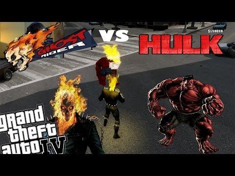 GTA 4 Webcam Red Hulk Mod   Ghost Rider Mod   Ghost Rider Vs The Red