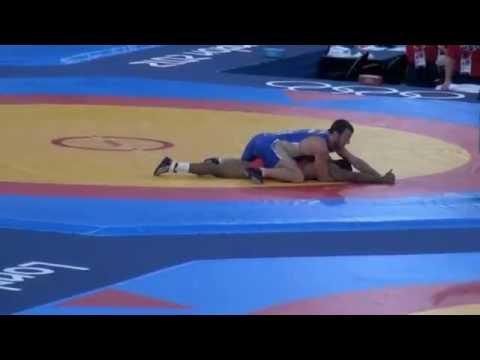 Burroughs (USA) v Tsargush (RUS); 2012 Olympics 74kg Semifinal