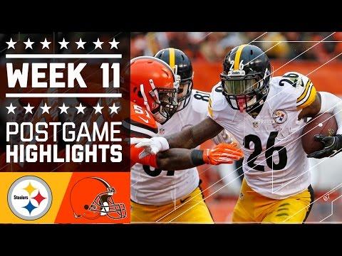 Steelers Vs Browns Nfl Week 11 Game Highlights