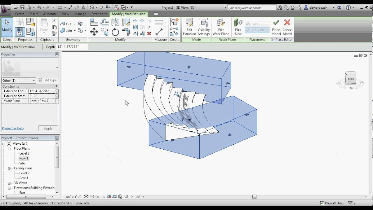 Revit Theater Seating Model Youtube