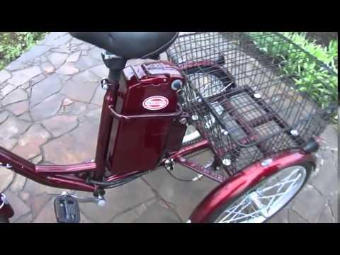 Китайский трехколесный грузовой электрический велосипед Happy 36V 350W