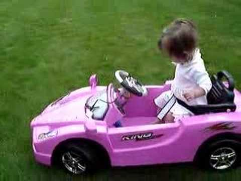 Izzis Pink Ferrari in the Garden aged 5mths Video