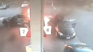 Man Backs Into Pump, Sets Gas Station On Fire