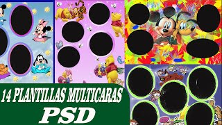 14 Plantillas Multicaras psd - editables en photoshop CC - Plantillas para photoshop