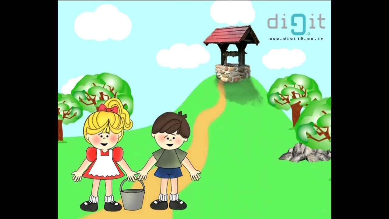 jack and jill went up the hill nursery rhymes kids animation youtube. Black Bedroom Furniture Sets. Home Design Ideas