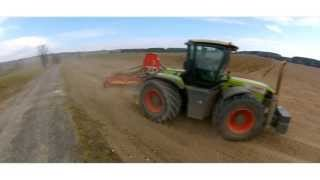 Two CLAAS XERION 3800 | FENDT 930 Vario | FARMET | Väderstad | spring work 2013