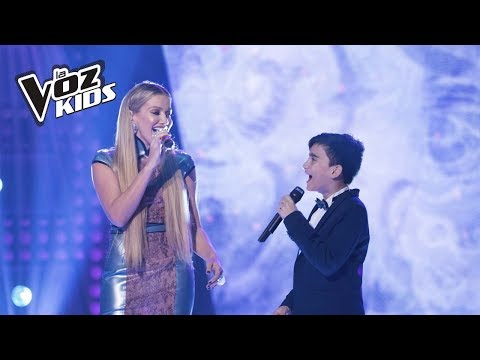 Jorge y Fanny Lu cantan Historia de un Amor   La Voz Kids Colombia 2018