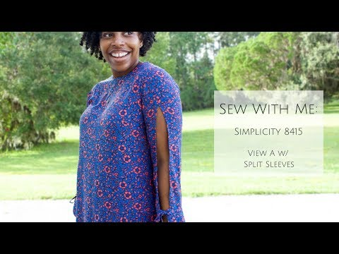 Sew With Me: Simplicity 8415 View A w/ Split Sleeves