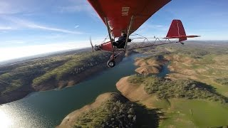 Flying to Lake Don Pedro in Legal Eagle Ultralight