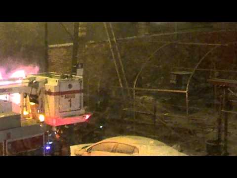 Aerial ladder strikes Chicago firefighter on roof