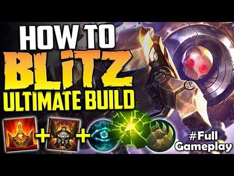 HOW TO BLITZ | THE ULTIMATE BLITZCRANK BUILD | Blitzcrank vs Morgana SUP SEASON 8 Ranked Gameplay
