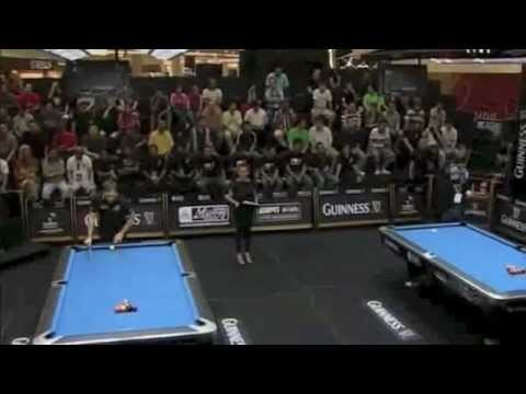 Karl Boyes vs Mika Immonen, Quarter Final of the Guinness World Speed Pool Championship 2012