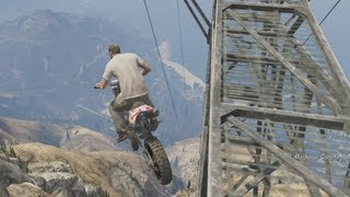 GTA5 - RIDING MT CHILLIAD (INSANE) (GTA V - Funny Moments #5) - *NO SPOILERS*