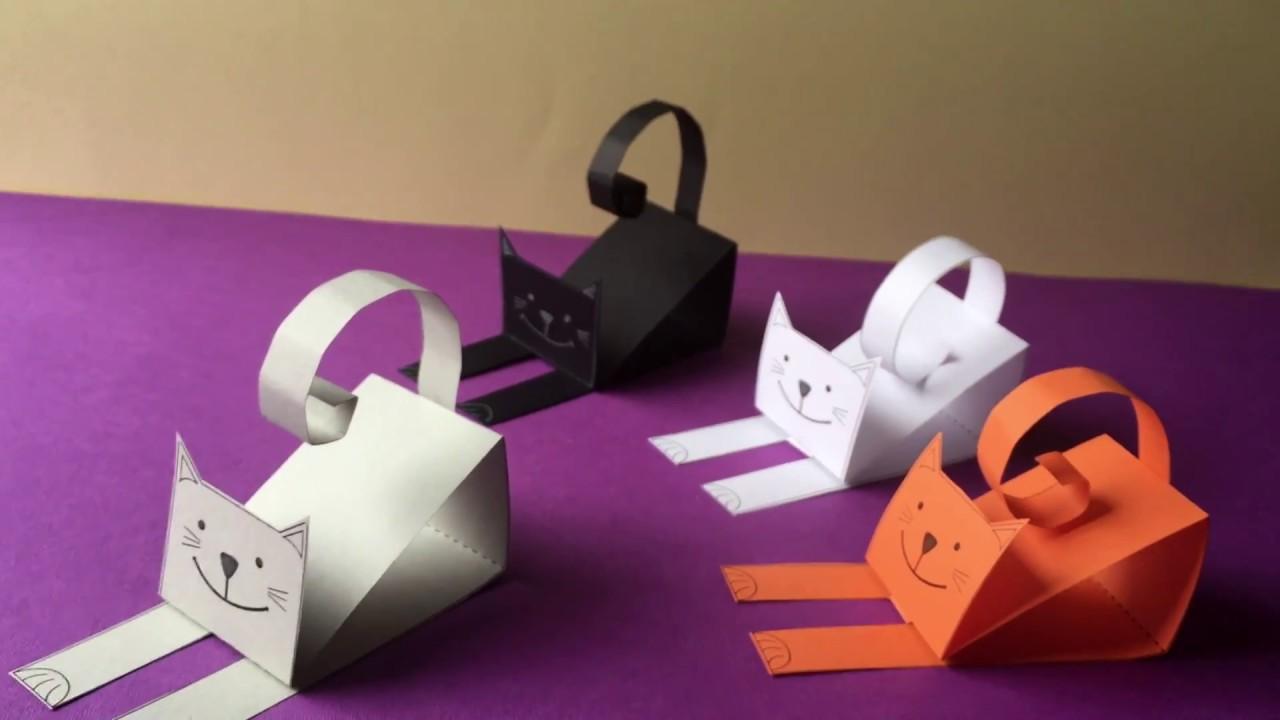 Котёнок из бумаги своими руками