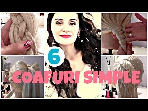 6 Easy Hairstyles - Coafuri Simple de Facut Acasa - Tutoriale Crix