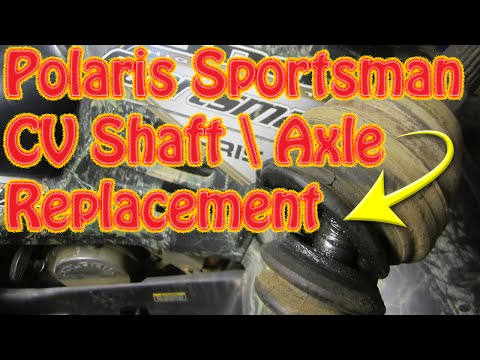 DIY How to Replace a Rear CV Shaft \Axle on a Polaris Sportsman ATV Bad CV Joint Clicking