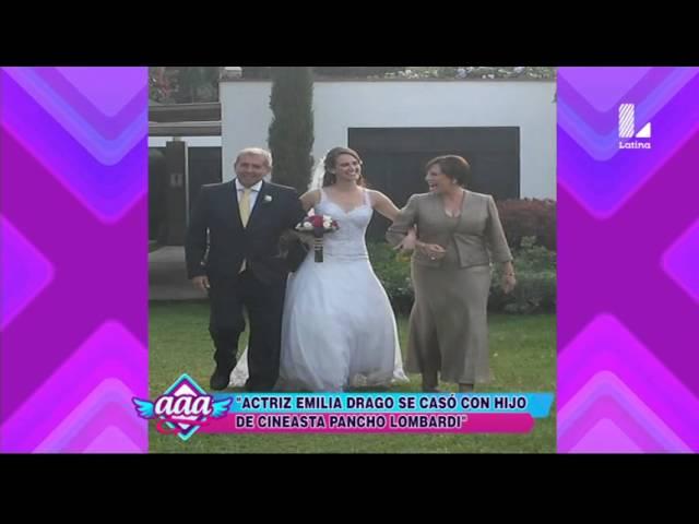 Emilia Drago se casó con el hijo del cineasta 'Pancho' Lombardi