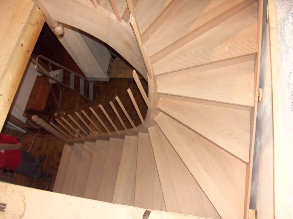 Installing a curved stair youtube - Stairlift for curved staircase ...