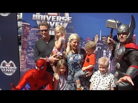 "Tori Spelling and Dean McDermott ""Marvel Universe LIVE!"" Premiere Red Carpet"