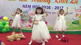 """Mầm non Trung Sơn - Lớp Lá múa """"Tạm biệt búp bê"""""""