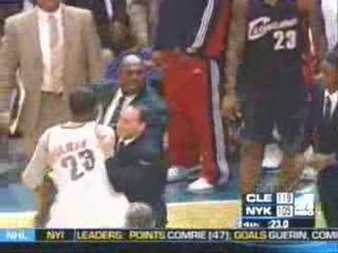 Fan attacks Lebron James in New York Knicks Game - Erskine Video
