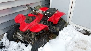 Winter Cold Start of the Honda TRX400EX